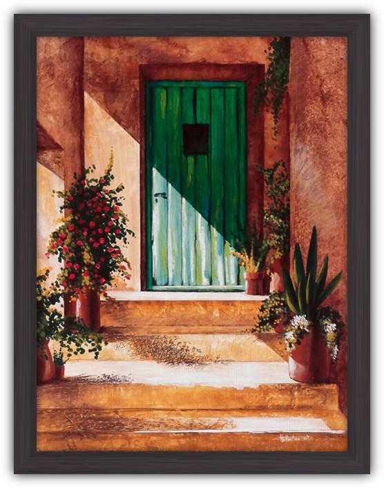Картина (репродукция) С возвращением (Зеленая дверь)