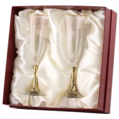 Бокалы для шампанского в картонной коробке Смородина