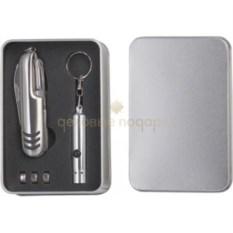 Многофункциональный набор (фонарик и мультиинструмент-нож)