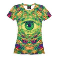 Женская футболкас глазом Psychedelic