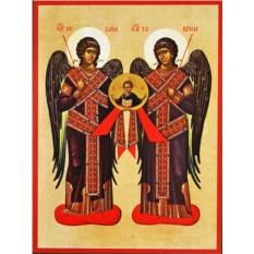 Икона на доске Михаил и Гавриил Святые Архангелы
