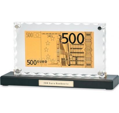 Банкнота 500 Euro в стекле