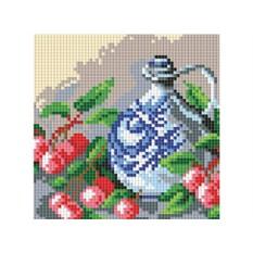 Алмазная вышивка «Кувшин и вишня»