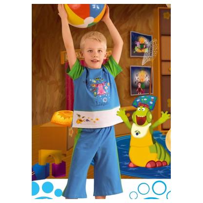 Комплект бриджи + футболка Лунтик для мальчика