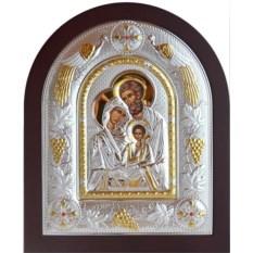 Икона Святое семейство в серебряном окладе