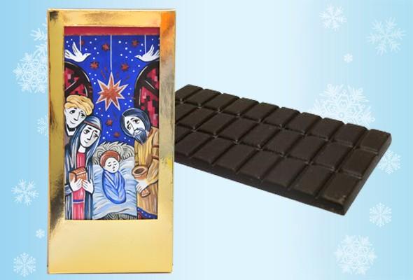 Именная шоколадная открытка «Рождественское чудо!»