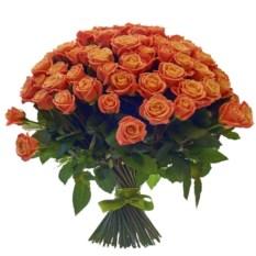 Букет из 101 розы Мисс Пигги 50 см