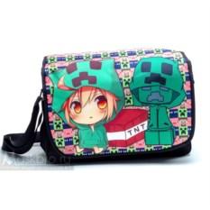 Наплечная сумка с девочкой и Крипером (аниме)