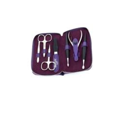 Маникюрный набор Dewal из 7 предметов (цвет — фиолетовый)