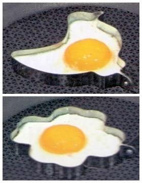 Форма для яичницы Птичка и Цветок