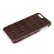 Темно-коричневый чехол из кожи крокодила на Iphone 7/8 plus