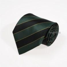 Черно-зеленый шелковый галстук Mario Valli