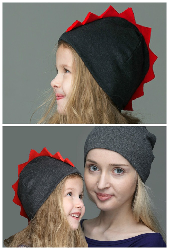 Комплект шапок Dragon для мамы и дочки
