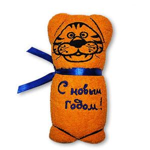 Полотенце «Тигр» желтое