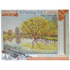 Набор для живописи масляными красками «Пруд»