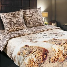 Постельное белье Леопарды из поплина