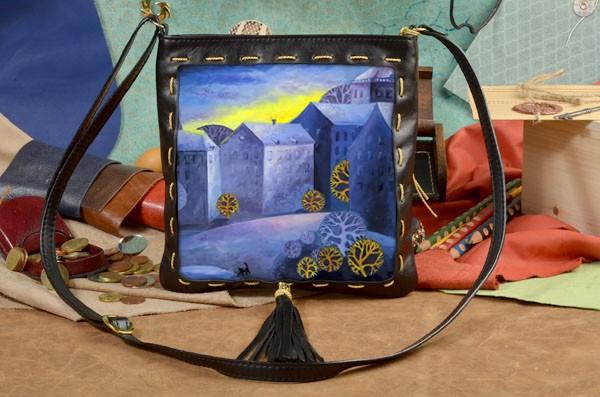 Черная сумка-планшет Синий Городок Elole Design