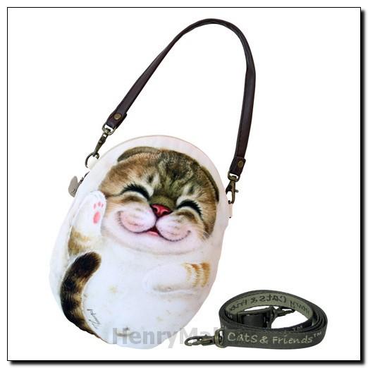 Чехол L с короткой ручкой и тесьмой кошка Белла