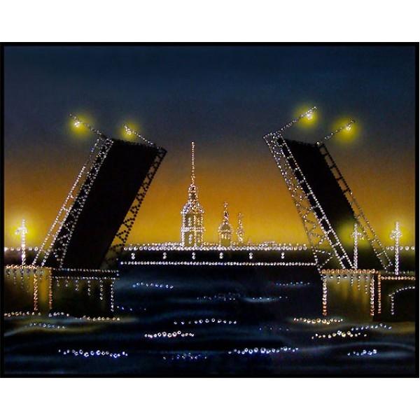 Картина Swarovski Дворцовый мост