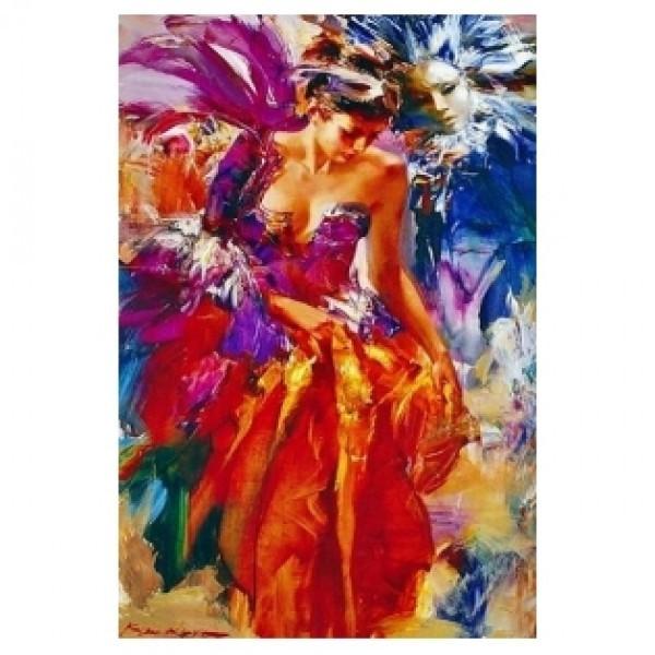 Картина-раскраска по номерам на холсте Карнавал