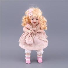 Фарфоровая кукла с мягконабивным туловищем, высота 35 см