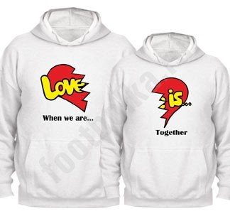 Парные толстовки Love is together