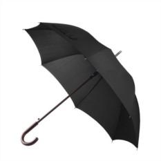 Черный складной зонт Wood classic