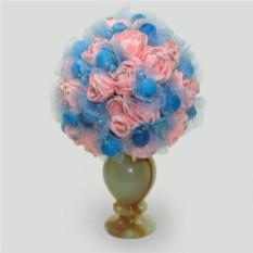 Цветы из агата Любовь и нежность