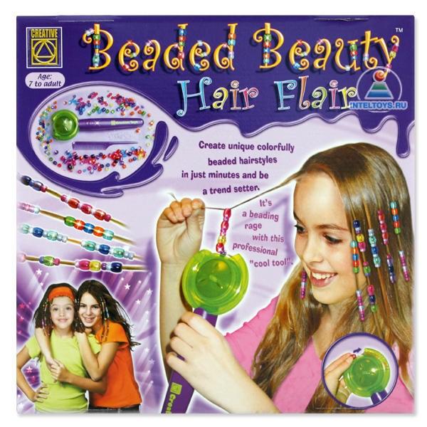 Набор «Укрась прическу» Beaded Beauty Hair Flair Creative