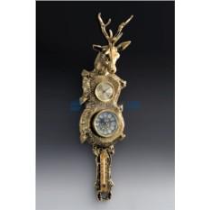Часы из бронзы Олень, настенные
