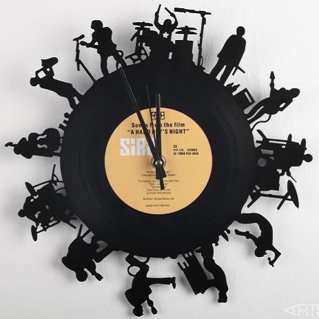 Часы из виниловой пластинки Отчаянные музыканты
