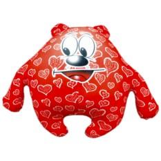 Красная подушка-игрушка Мишка влюбленное сердце