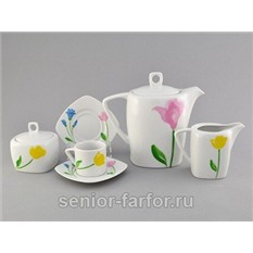Кофейный сервиз Leander на 6 персон (15 предметов)