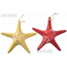Декоративная морская звезда (2 штуки: желтая, красная)