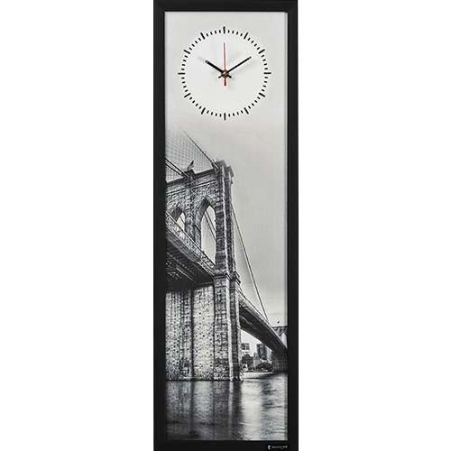 Настенные часы из песка Мост