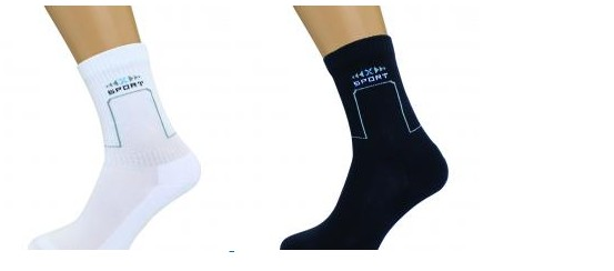 Черные спортивные носки