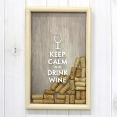 Копилка-рамка для винных пробок Keep Calm And Drink Wine