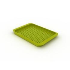 Зеленый Поднос для сервировки Grip Tray средний (зеленый)