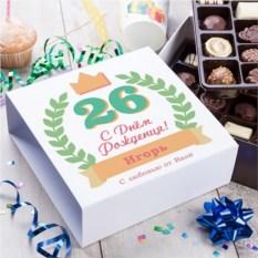 Бельгийский шоколад в подарочной упаковке С днём рождения!