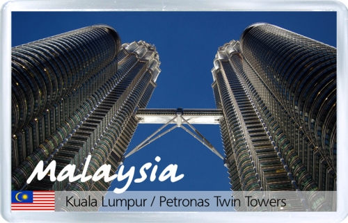 Магнит на холодильник: Малайзия. Башни Петронас