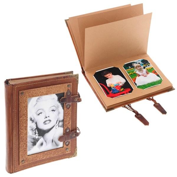 Подарочный фотоальбом из натуральной кожи Монро