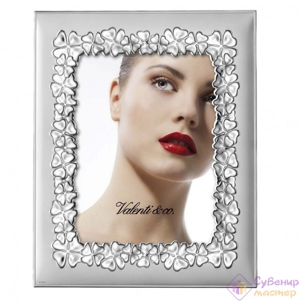 Фоторамка Valenty & Co, серебро с цветами, 13х18