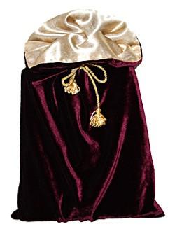 Подарочный мешочек, бордо, вариант 3
