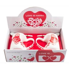Набор кружек с сердцем Любовь