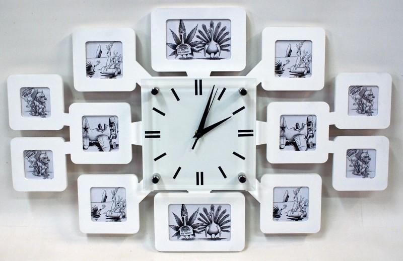 Оригинальные настенные часы-фоторамка В кругу Семьи