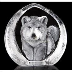 Стеклянная малая скульптура Собака