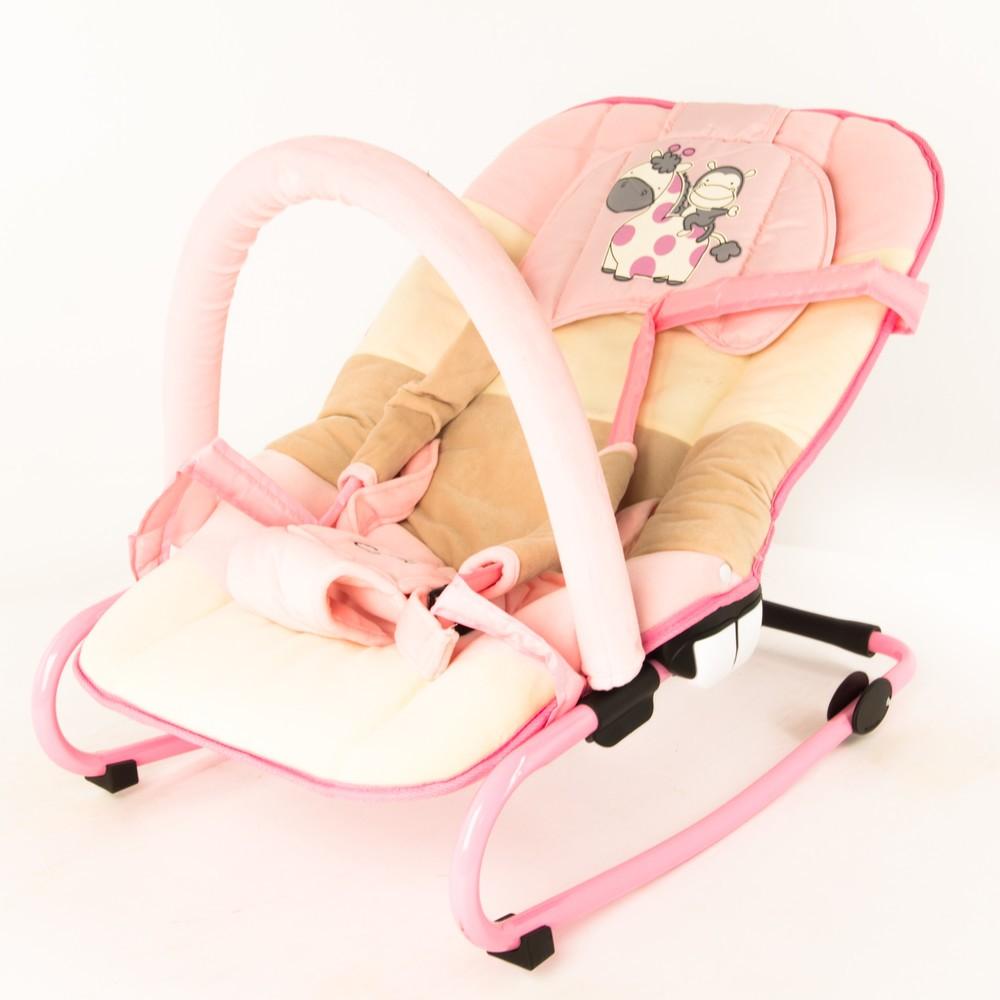 Шезлонг Capella Comfort Plus Jungle, розовый/бежевый/мокко