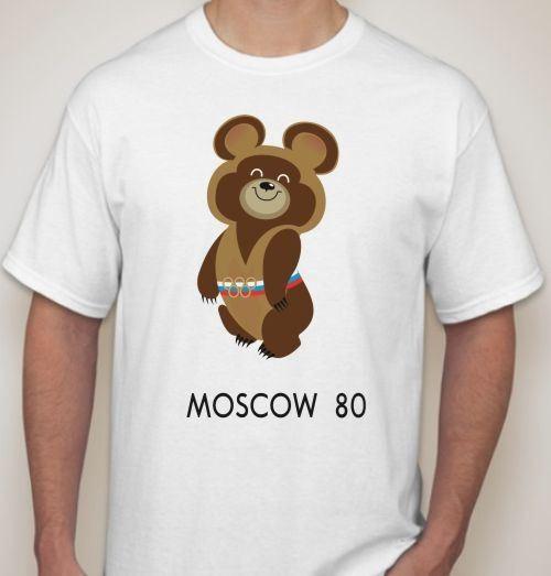 Мужская футболка Олимпийский мишка