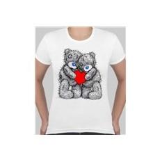 Женская футболка Влюбленные мишки Тедди