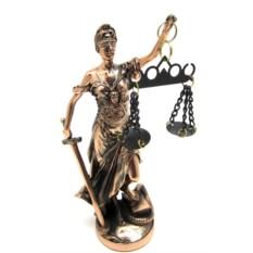 Статуэтка Богиня правосудия Фемида, высота 21 см
